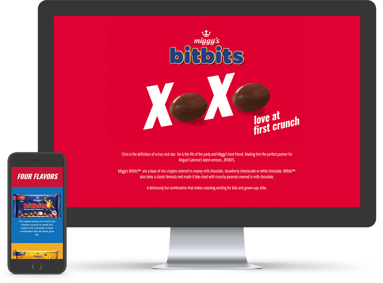 Bitbits website. Miggy Foods. Plvral Advertising and Marketing, Miami.